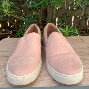 FRYE Size 8M Blush Suede Leather Slip On Sneakers